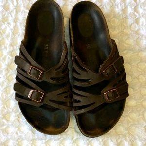 Birkenstock Granada brown leather 38